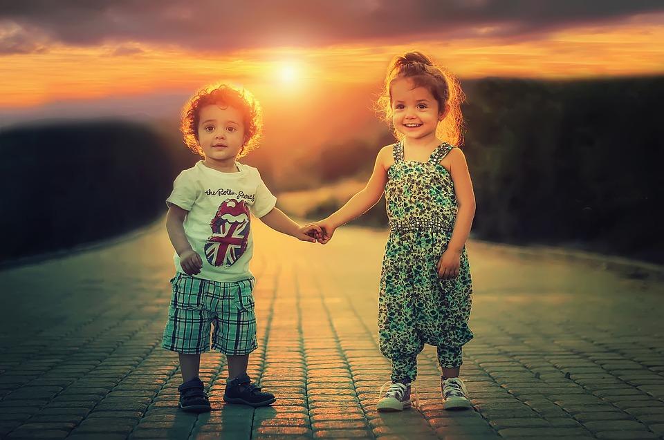 To børn