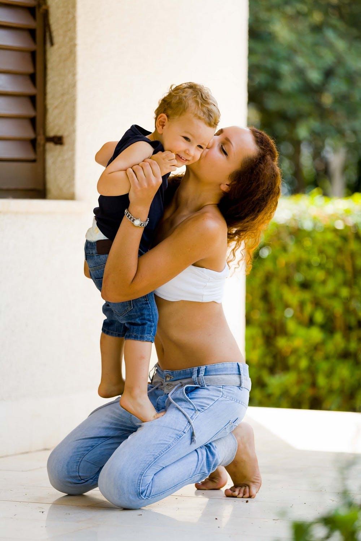 Mor med søn