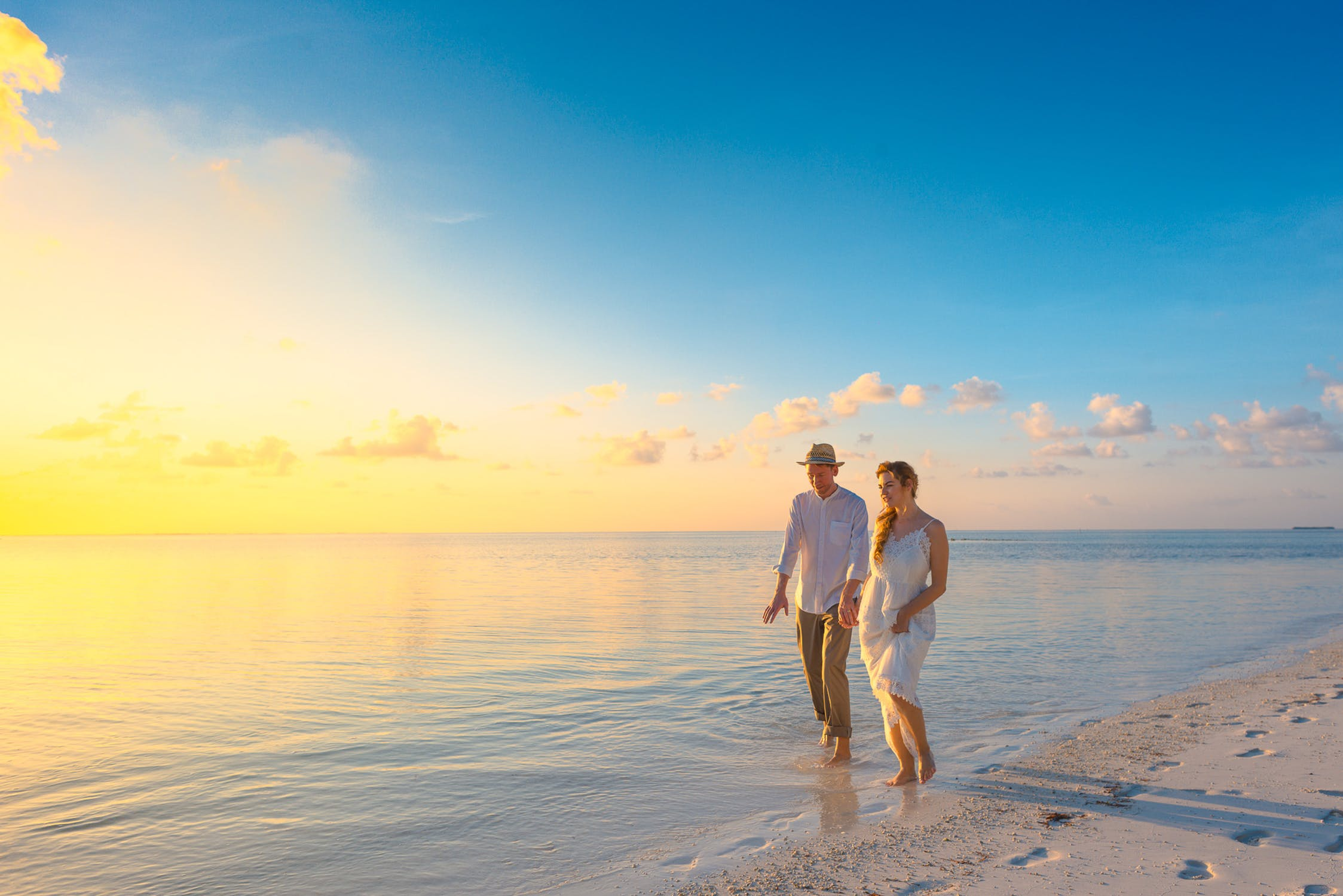 Par på strand